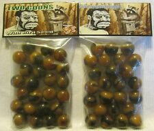 """2 Bags Of Two Racoons Wild Bird Seed """"Black Americana"""" Promo Marbles"""
