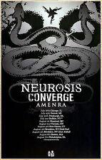 NEUROSIS | CONVERGE | AMENRA 2017 Ltd Ed RARE New Tour Poster +FREE Metal Poster