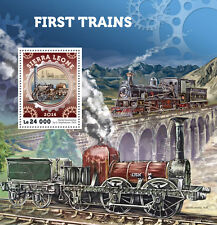 Sierra Leone 2016 MNH First Trains Steam Engines Locomotives 1v S/S Stamps
