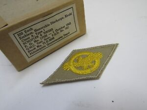 Original WW2 US Ruptured Duck Honorable Discharge Veteran Patch Embroidered NOS
