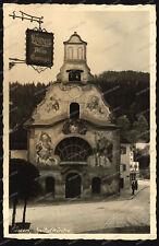 Foto-AK-Füssen-Spitalkirche-Löwen-Autogarage-Franz Wirth-