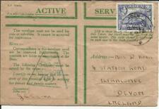 Aden SG#21(single frank)-ADEN 3/MAR/42-ACTIVE SERVICE GREEN ENVELOPE-RAF CENSOR