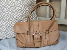 Coach Hamptons Soho satchel/ bag tan soft leather silver tone fittings