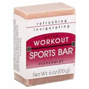 Grandma's Sports Soap Bar - 6.0 oz Peppermint Face & Body Wash with Coconut &...
