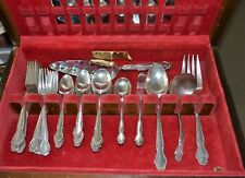 Wm Rogers Sterling Silver Service for 8 =55 Wedding Bells Pattern Serving Pieces