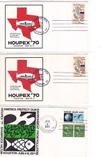 Houston TEXAS 5 Covers HOUPEX 1970-71: Blimp + Environment !!