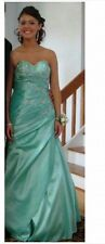 Mermaid Sweetheart With Pleated Bodice Beaded Prom Dress Size 6 - Mint