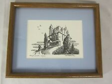 Vintage Print of Large House - signed Von Roessler 58/150