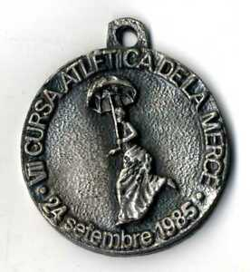 Medalla VII Cursa Atlética de la Merçe 24 septiembre 1985 La Caixa