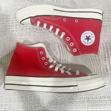 Converse Chuck Hi Red Sneakers - Size 10