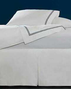 ITALY SFERRA GRANDE HOTEL PURE COTTON  TAILORED 3-PANEL BED SKIRT