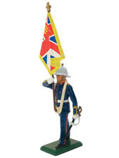 W Britain Soldiers 43026 Royal Marine Standard Bearer Queen's Colour 54mm