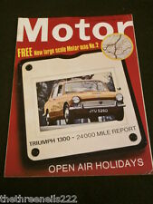 MOTOR MAGAZINE - TRIUMPH 1300 - MARCH 9 1968