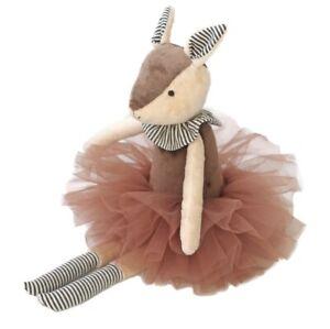 Stuffed Animal Handmade Plush Toy Soft Deer Brown Cute Doll Bamby Gift 37 cm New