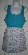 Summer/Beach Crew Neck Floral Dresses Size Petite for Women