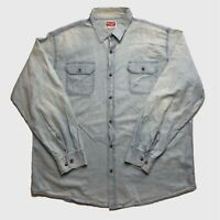 Mens Vintage Wrangler Shirt XL Denim Style Blue Good Condition.