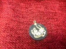 Capricorn Onyx and gold Pendant