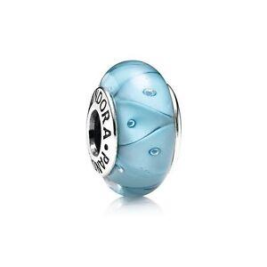 790924 Turquoise Looking Glass Pandora Charm S925 ALE, Murano Glass