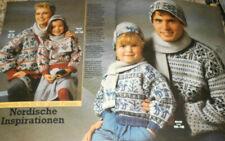 Burda von 1985 Maschen Spass  Stricken Strickheft Damen Herren Kinder