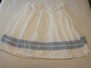 Pottery Barn Kids Bassinet Skirt Blue And White Gingham Check