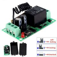 DC 12V 10A Relay 1CH Wireless RF Remote Control Switch Transmitter + Receiver MT
