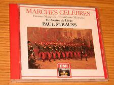 CD PAUL STRAUSS famous MARCHES CELEBRES 1987 EMI ORCHESTRE de LIEGE chabrier