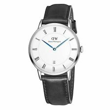 DANIEL Wellington depper SHEFFIELD IN ACCIAIO INOX PELLE NERA WATCH 1121dw