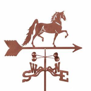 Antique Look - American Saddlebred Horse Weathervane, Vane - w/ Choice of Mount