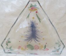 Mikasa Decorated Tree Shaped Multicolor Serving Glass Candy Serving Dish