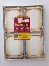 Scroll Themed Invitation Geographic Invitations No Envelopes