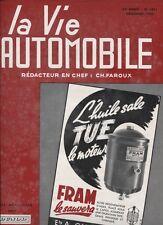 N° 2038 bis / revue LA VIE AUTOMOBILE n°1481  11/ 1954 après le salon automobile