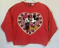 Vintage  Brazos Sportswear Disney Mickey Minnie Mouse Sweatshirt Red Sz L/XL