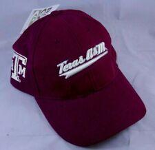 Texas A&M Aggies Script Ball Cap Strapback Hat Red Oak Sportswear