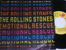 """7"""" - Rolling Stones Emotional Rescue & Down in the Hole - 1980 # 1747"""