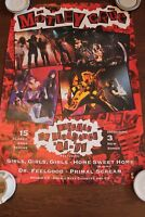 vintage poster Motley Crue Decade of Decadance 1981-1991 large wall poster rare