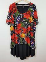 TS TAKING SHAPE Womens Size M or 18 Floral Print Short Sleeve Dress / Tunic