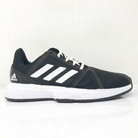 Adidas Womens Court Jam Bounce EG1139 Black Running Shoes Lace Up Size 8.5
