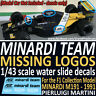 Formula 1 Collection MINADRDI 191 1991 missing DECALS for the 1/43 scale model