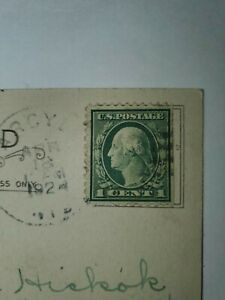 Rare George Washington 1 Cent US Stamp with Postcard Fine Used...