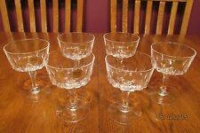 MINT Set Of Six Vintage Cristal D'Arques St. Germain Crystal Champagne Sherbet