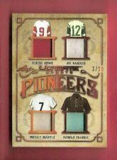 MICKEY MANTLE JOE NAMATH ARNOLD PALMER GORDIE HOWE GAME USED JERSEY CARD LEAF #d