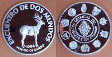 URUGUAY Año 1994. 200 Pesos Plata de 2ª SERIE IBEROAMERICANA. VENADO DE CAMPO.