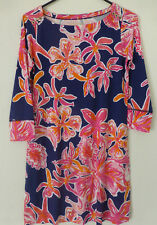 Lilly Pulitzer Sophie Dress UPF 50+ Bright Navy Via Sunny Size L New