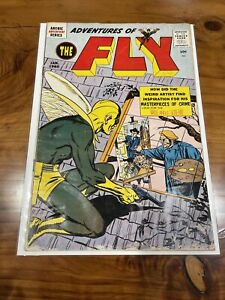 Adventures of the Fly #4 - First art Neal Adams !! 1960 - Achie Adventure Series