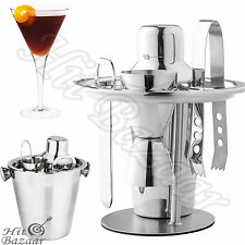 COCKTAIL SHAKER SET Stainless Steel 6 Piece Bar Mixer Professional Bartender Kit