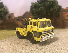 1970 Ford C600 Tow Truck Rusty Weathered Barn Find Custom 1/64 Diecast Wrecker