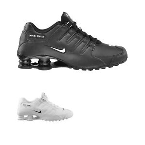 Nike Mens Trainers Shox NZ Sporty Lace-Up Running Sneakers Leather Synthetic