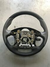 Black / Silver LEATHER Momo style (Ralliart) Steering Wheel GENUINE Mitsubishi M