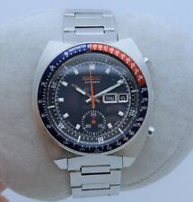 SEIKO POGUE 6139-6005 Pepsi-Bezel Blue-Dial 6139B Automatic Chronograph SERVICED