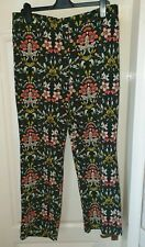 NEXT Size 14 Reg Dark Green Floral Patterned Trousers- New With Tags